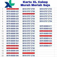 Jual Kartu Perdana Nomor Cantik XL 4G LTE No Telkomsel Simpati Indosat IM3 Murah