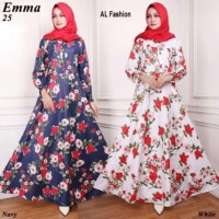 Gamis Syari Maxi Emma 2/ Baju Muslim/ Pakaian Muslim