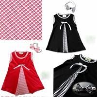 [MB] Baju Bayi Perempuan Dress Bayi Lucu Bandana Meghan Lucu Murah