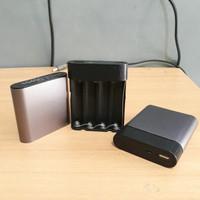 Jual case diy power bank 2.1A isi 4 pcs batre laptop 18650 Murah