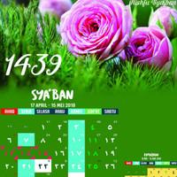Kalender Islami Puasa Sunnah Hijriyyah 1439 H Isi 4 Lembar