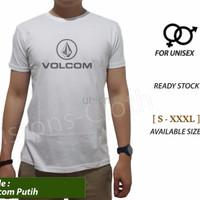 Promo kaos Volcom hitam baju distro surfing tshirt branded pria tomyl
