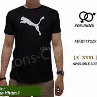 Promo Kaos distro Puma logo hitam tshirt branded pria baju sport cowo