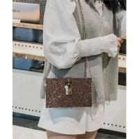 Tas Coklat Selempang Impor Wanita Sling Bag Shoulder Bag Keren Elegan