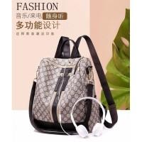 Ransel Import Backpack Coklat Shoulder Bag Wanita Tas Fashion Modis