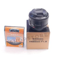 Jual Lensa YongNuo 50mm (for Canon) Free UV Filter Murah
