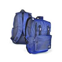 Tas Ransel / Backpack Kasual Pria  biru navy Java Seven BTS 767 murah