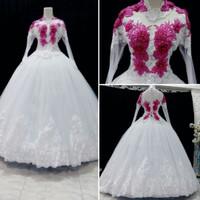 Gaun baju dress kebaya putih pengantin HARGA PROMO