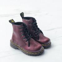 Sepatu Boots Anak Docmart Maroon