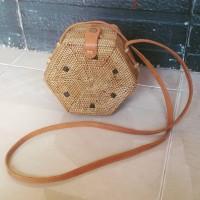 Jual tas ketak (rotan) segi enam lombok Murah