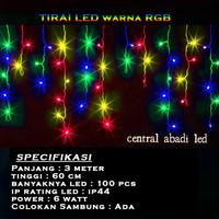 Lampu Natal Tirai RGB