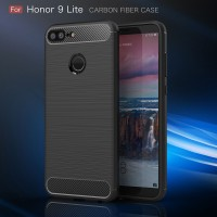 Huawei Honor 9 Lite spigen soft case carbon casing hp cover FIBER LINE