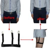 Men Shirt Holder (Kemeja Pria) - Leg Suspender (acara formal, bisnis)