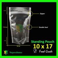 Plastik Kemasan STANDING POUCH 10x17 Transparan Zipper Double Seal