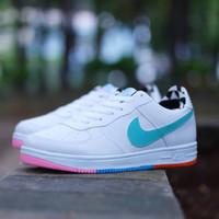 Nike Air Force One Tosca White / Putih Sepatu Cewek Wanita Casual Kets