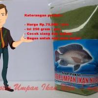 umpan pelet ikan nila | mujair siap pakai