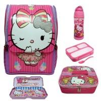Jual Tas Sekolah Anak TK PAUD Jepang Hello kitty Paket Lengkap Murah