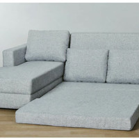 sofa L bed Lantai minimalis