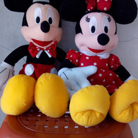 Boneka Mickey dan Minnie Mouse XL