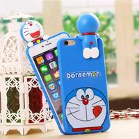 Softcase TPU 3D Cute Doraemon Ngintip Cover Case Casing HP Oppo Neo 7