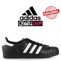 Sepatu ADIDAS Superstar Original Terbaru Sneakers Pria Wanita Hitam Pu