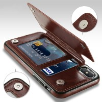 Leather Smartphone Case with Mini Wallet for iPhone X TERLARIS RECOM