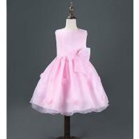 BAP.091 gaun pesta simple untuk anak BAYI perempuan warna pink