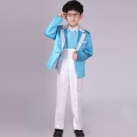 JAS pesta anak laki-laki warna biru , celana ,dasi, ikat pingang putih