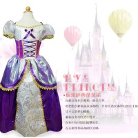 Gaun pesta anak Princess Rapunzel High Quality / kostum Disney princes