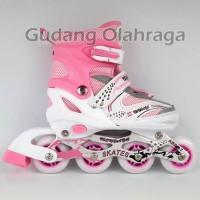Sepatu Roda Warna Pink / Inline Skate Anak dan Dewasa ORO386 New