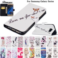 Flower Leather Case For Samsung Galaxy S6 S7 Edge S8 Plus S5 Mini G870