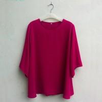 BAJU NAGITA TERBARU Blouse Wanita Big Size 2L, 3L, 4L & 5L Warna Pink