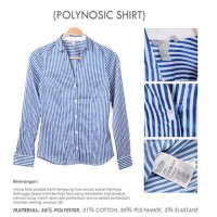 BAJU SYARINI TERBARU Office Stripe Shirt Branded HM | Kemeja Kantor
