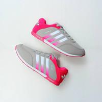 41d90b212 Sepatu Adidas Neo Racer Grey Pink   Cewe Wanita Running Gym Fitness