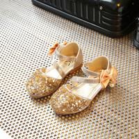 sepatu anak perempuan flat ribbon blink gold