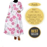 Gamis Payung / Baju Muslim Wanita  Bahan Katun Jepang Motif Bunga