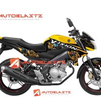 Decal Stiker FULLBODY New Vixion YELLOW  BUMBBLE BEE