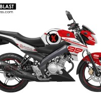 Decal Stiker FULLBODY New Vixion WHITE JL99 RED
