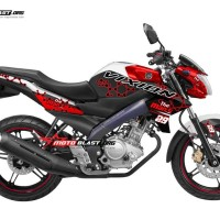 Decal Stiker FULLBODY New Vixion RED THE MANIAC 29 WHITE