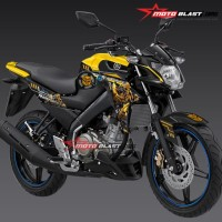 Decal Stiker FULLBODY New Vixion BUMBBLE BEE YELLOW