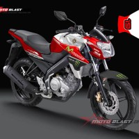Decal Stiker FULLBODY New Vixion MONSTER WHITE RED