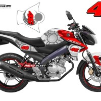 Decal Stiker FULLBODY New Vixion RED SUNMOON VR46 WHITE