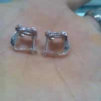 Anting Jepit Chanel Perak Silver925 Asli Lapis Mas Putih