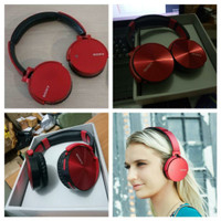 headphone sony Bluetooth extra bass / headset wireless tanpa kabel new