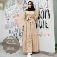 Baju Muslim Wanita Vintage Maxi Murah