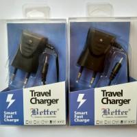 Charger Hp Nokia Jadul LED Kepala Lubang Kecil Original Better Travel