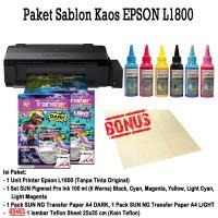 PRINTER EPSON L1800 Paket Sablon Kaos Gelap/Terang Tinta Pigment Pro