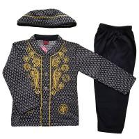 Jual Baju Muslim Koko (6-12 Bulan) Anak Bayi Laki-Laki Setelan Set Peci LY2 Murah