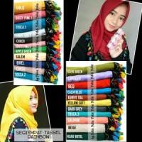 Jilbab Segi Empat Tassel Rainbow  ORIGINAL  Segi 4