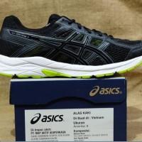 Sepatu Murah Casual Sneakers  Original Asics contend Black White